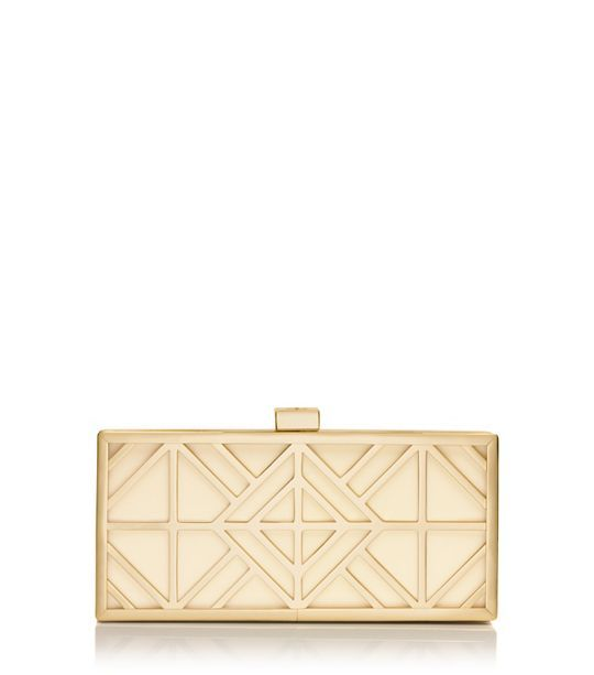 Wedding handbag? Tory Burch Fret Clutch : Women's Clutches & Evening Bags | Tory Burch