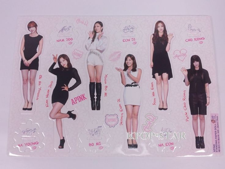 APINK A-Pink Standing Paper Doll Korean K Pop Star KPOP Paper Doll