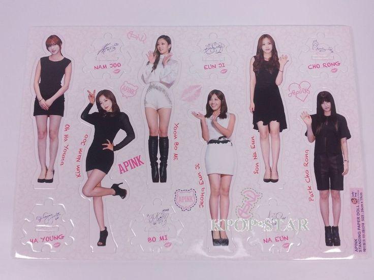 APINK A-Pink Standing Paper Doll Korean K Pop Star KPOP Paper Doll