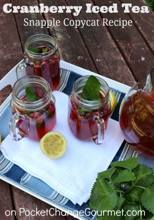 Cranberry Iced Tea: Snapple Copycat Recipe on PocketChangeGourmet.com