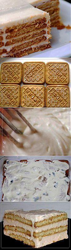 Торт из печенья | Рецепты вкусно