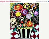 35% off storewide - Botanical Charts Flower Art Floral Painting - Flower Art Floral Painting - ART PRINT - Flower Mosaic - Wedding Gifts. $15.60, via Etsy.