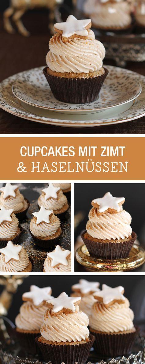 Süßes Rezept für Weihnachten: Cupcakes mit Zimt ud Haselnüssen / christmas recipe: cupcakes with cinnamon and hazelnuts via DaWanda.com