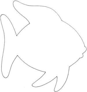 Rainbow fish template by daraskaich vbs underwater for Fische basteln vorlagen
