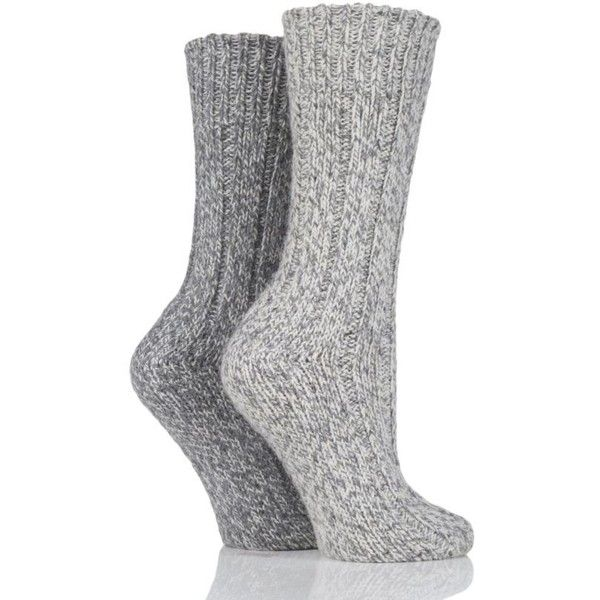 SockShop Ribbed Wool Boot Socks with Smooth Toe Seams (32 PEN) ❤ liked on Polyvore featuring intimates, hosiery, socks, ribbed socks, wool socks, woollen socks, woolen socks and sockshop