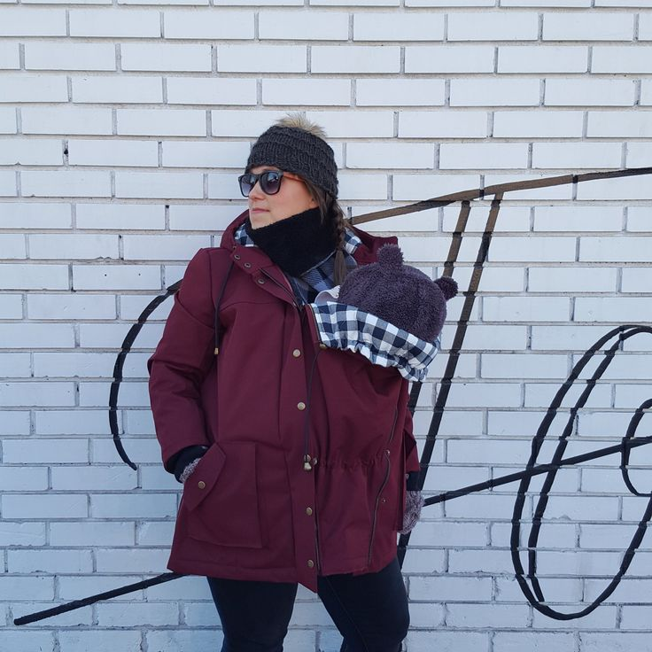 How to hack a Kelly Anorak into a maternity or baby-wearing jacket! // by Couturious