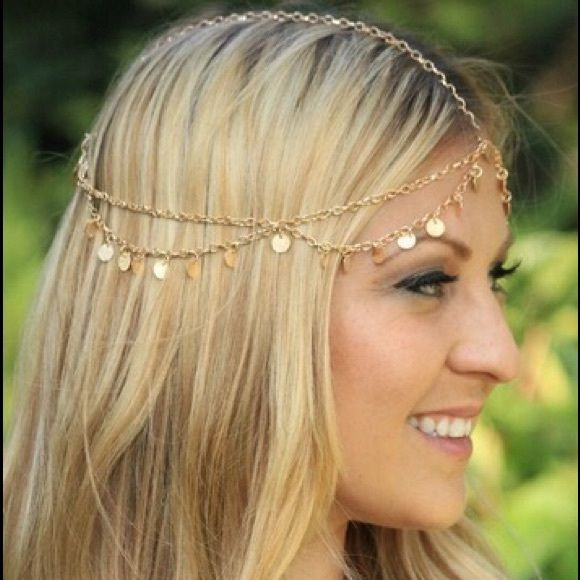 Gypsy Coin Head Chain Gorgeous draping gold coin head chain. Also available in silver. Let me know which color before purchase! Accessories Hair Accessories