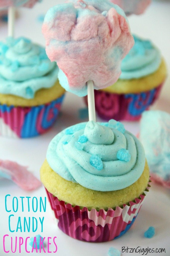 Cotton Candy Cupcakes {contributor Sara} - This Silly Girl's Life
