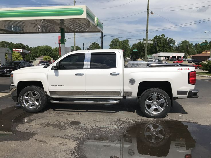 Chevrolet Silverado Crew Cab LT .Level Lift with two inch in rear to keep Chevy Two inch Grade.