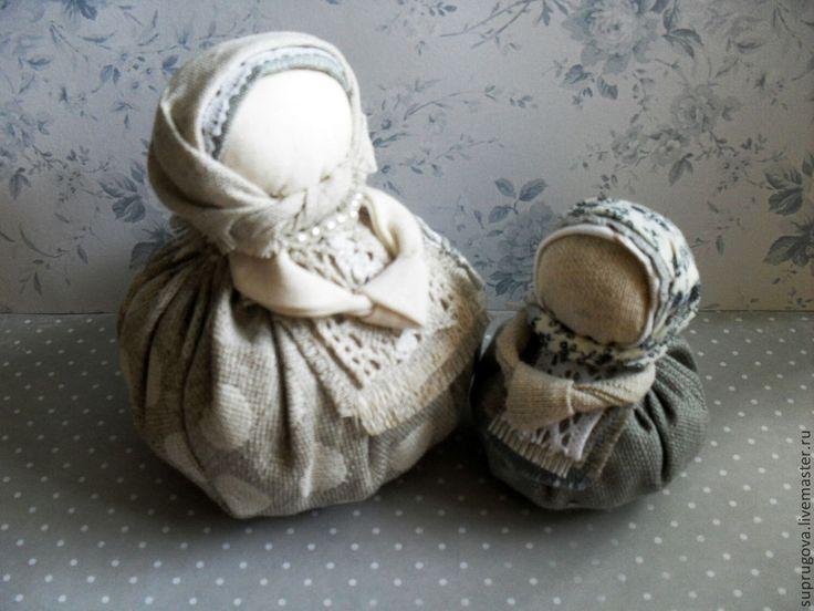 """Купить Кукла - оберег """"Благополучница"""" - серый, кукла в подарок, русский стиль, русская народная кукла"""