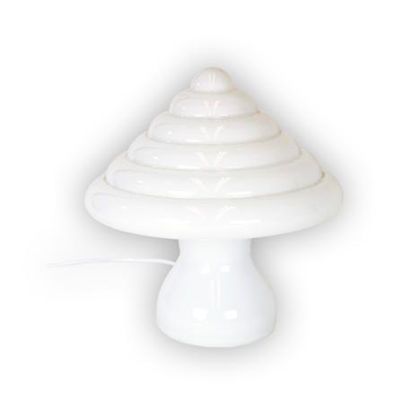 Lámpara de mesa. Pieza única de cristal soplado artesanalmente.