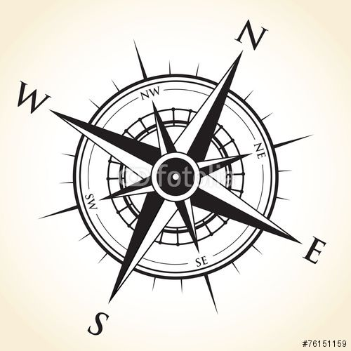 Vector: compass background