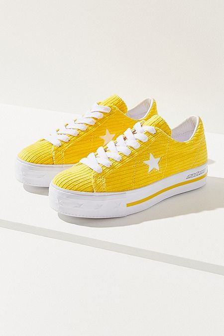320b9ee6eff Converse One Star X MadeMe Corduroy Platform Sneaker