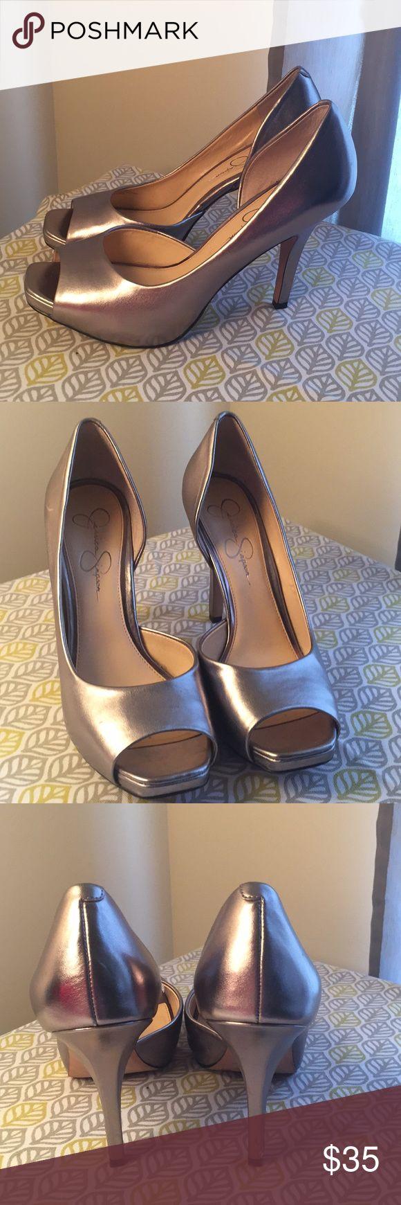 Jessica Simpson Pumps New Metallic Open Toe Jessica Simpson Shoes Heels