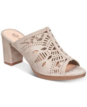 Bella Vita Lark Slide Sandals - Tan/Beige 6.5WW