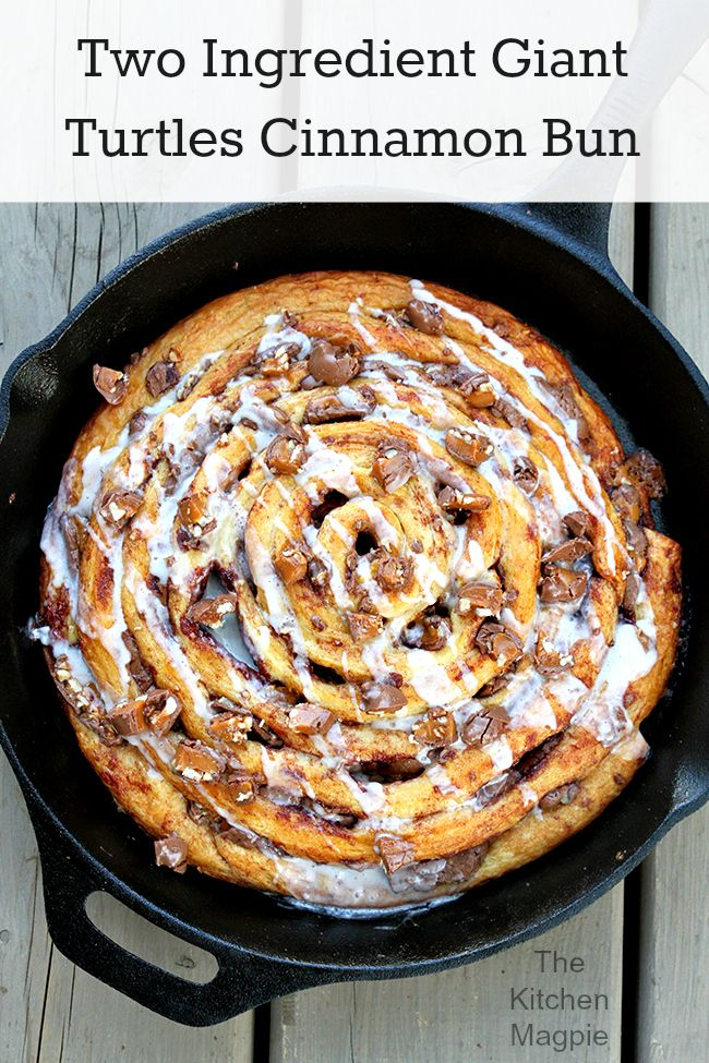 Two Ingredient Giant Turtles Cinnamon Bun #recipe