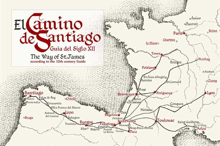 camino de santiago mapa pdf