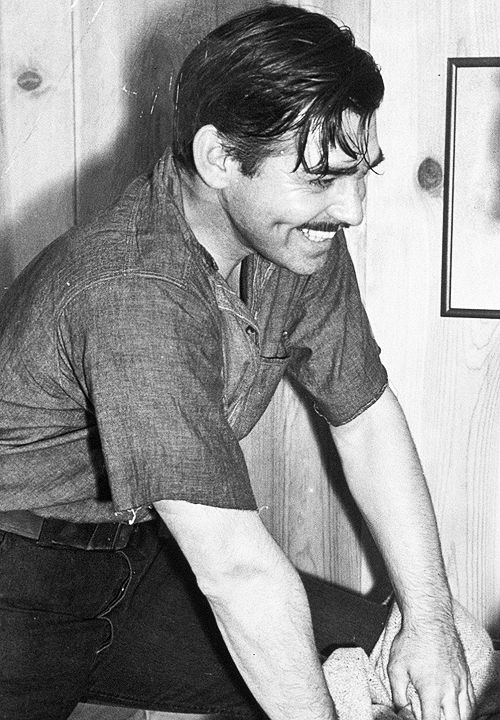 Clark Gable on the set of Gone with the Wind (1939)