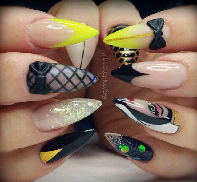 Acrylic gel nail art