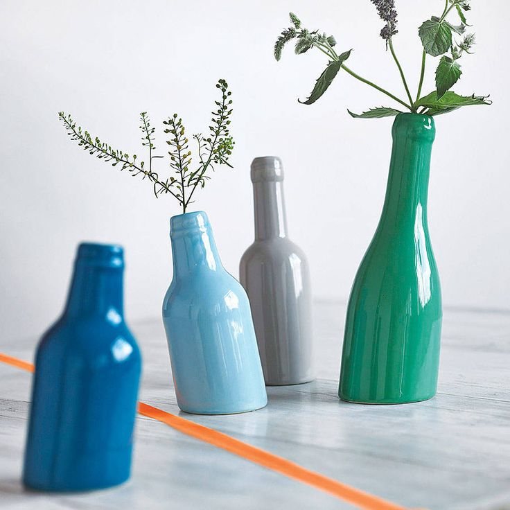 not so straight bottle vase by henry's future | notonthehighstreet.com