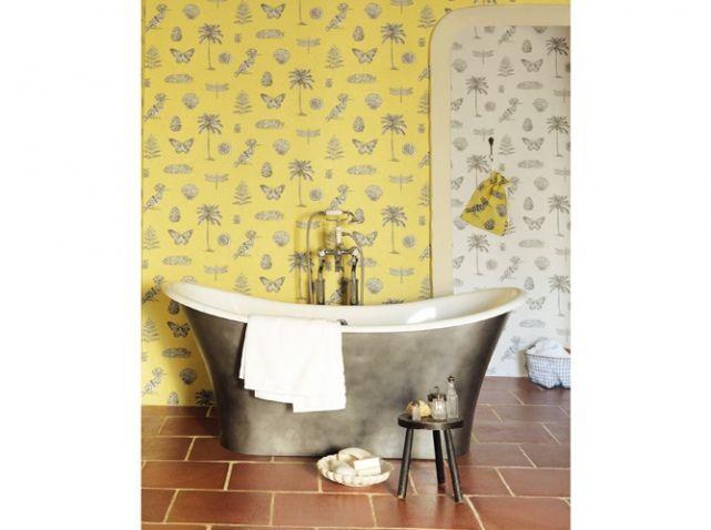 Les 25 meilleures id es concernant salles de bains gris for Decoration salle de bain jaune et gris