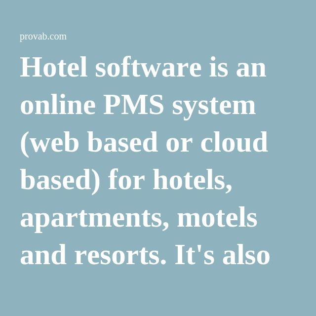 """why are pms systems central to """"if you think of these currently fragmented systems—like a pms or central- reservation system—there's a fairly large percentage of the."""