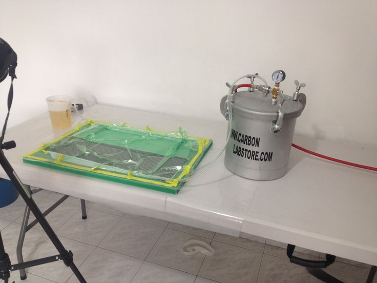 Elementos básicos que conforman el proceso de infusión de resina antes de la transferencia de resina. Para mayor información, visita: www.carbonlabstore.com