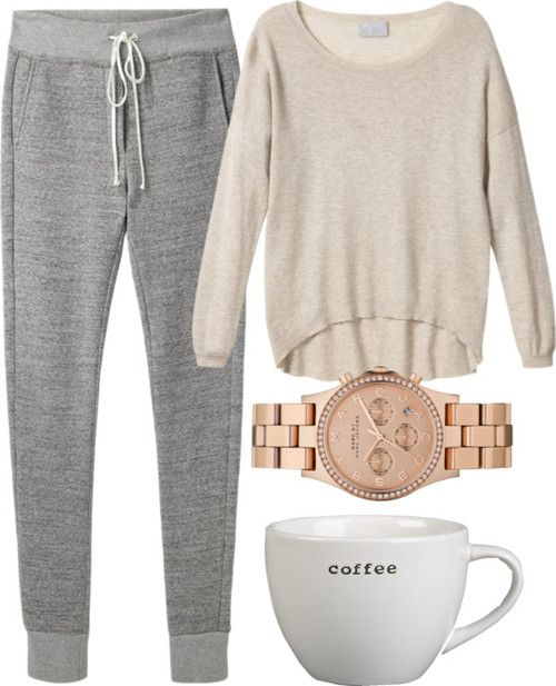 manhattaninspired: Untitled #414 by katrinad29 featuring gray sweatpants $71.99 http://michaelkorsbagshopping.com cheap mk handbags,mk bags fashion style