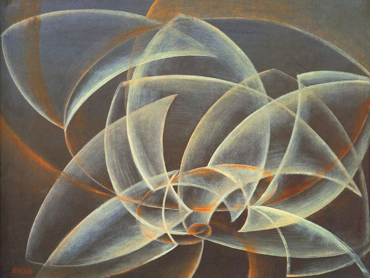 Giacomo Balla.   Vortex, space, form  1914. Place of Creation: Italy