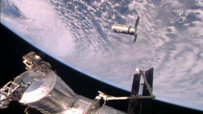 Space Station Grabs Onto NASA's Cygnus Cargo Craft : The Two-Way : NPR