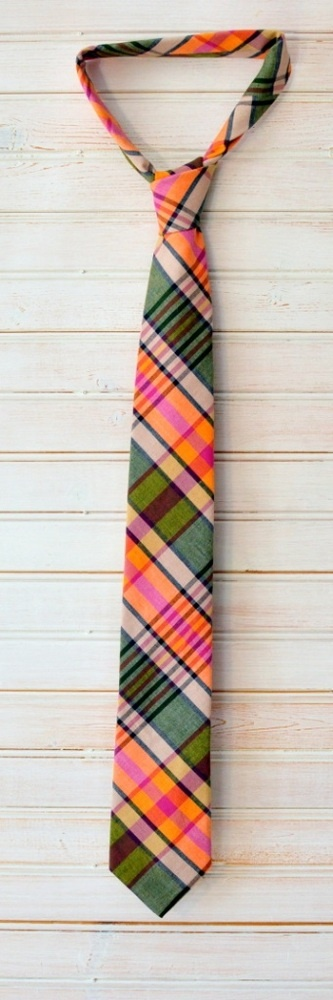 "Handcrafted in 100% cotton. 58"" in length. Available in both 2 1/2"" and 3"" at widest point. Made in New York. $82"