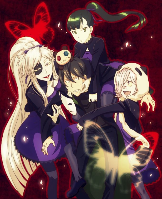 Un-Go cosplaying as Darker than Black. Lol LOTS of Yins to only 1 Hei, haha. Poor Shinjuurou