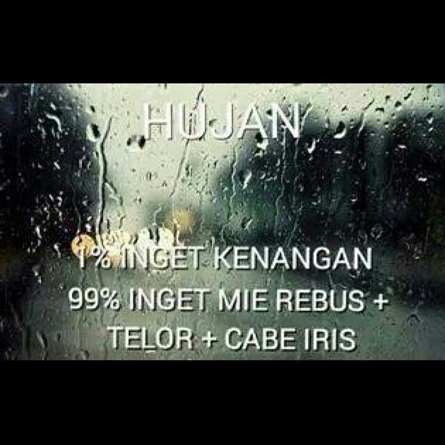Hujan...