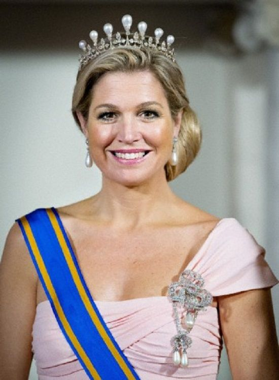 Queen Maxima before the state banquet at the Royal palace Amsterdam, The Netherlands, 22 March 2014.