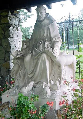 Iconic Statue of St. Francis and the animals