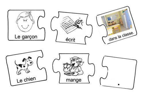 Construire des phrases, c'est déjà communiquer... D'où la difficulté pour les élèves atteints d'autisme : construire des phrases est plus compliqué pour eux qui ne vont pas naturellement vers la communication, et qui écoutent peu ce qui se dit autour...