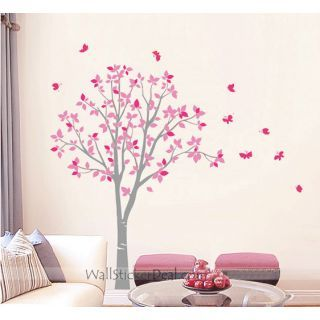 17 best images about girl room ideas on pinterest trees for Butterfly mural ideas