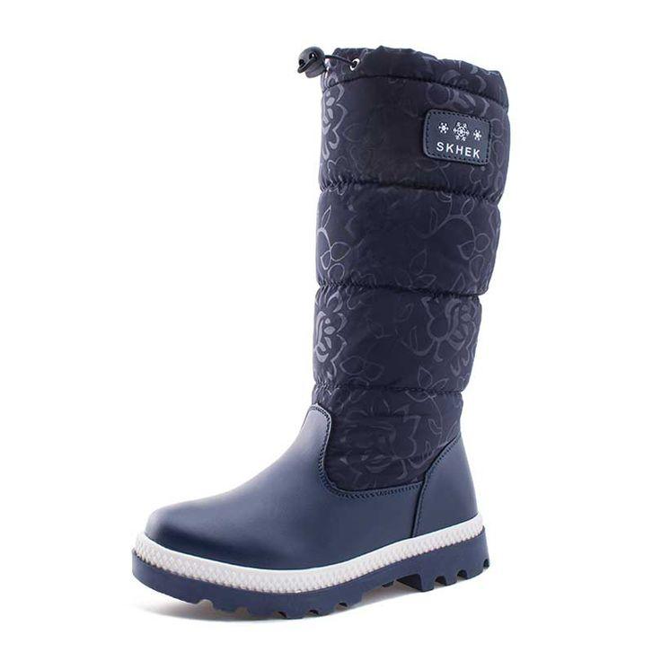 2017 winter warm plush kids boots children snow boots waterproof non-slip girls & boys boots platform shoes for -40 degrees