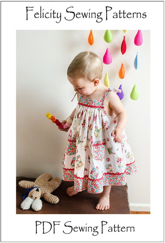 Baby dress sewing pattern girls dress pattern by FelicityPatterns
