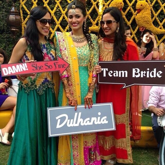 perfect indian wedding photo booth!  Definitely want that sign saying dulhaniya!