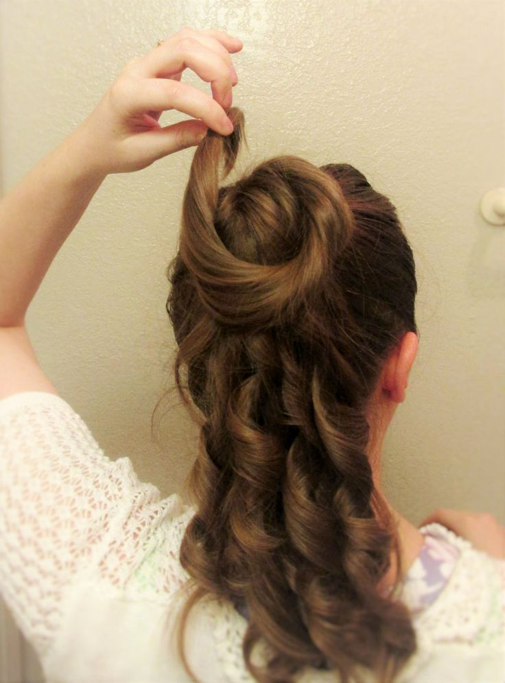 This is totally the Belle updo.