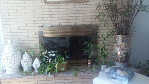 Chinese inspiration fireplace