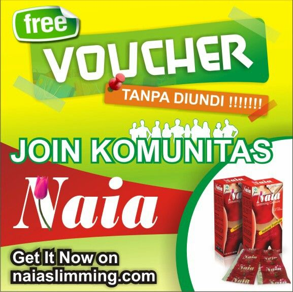 Selamaat pagiiii.. Yuk gabung komunitas Naia dan dapatkan voucher belanja gratiss!! www.naiaslimming.com