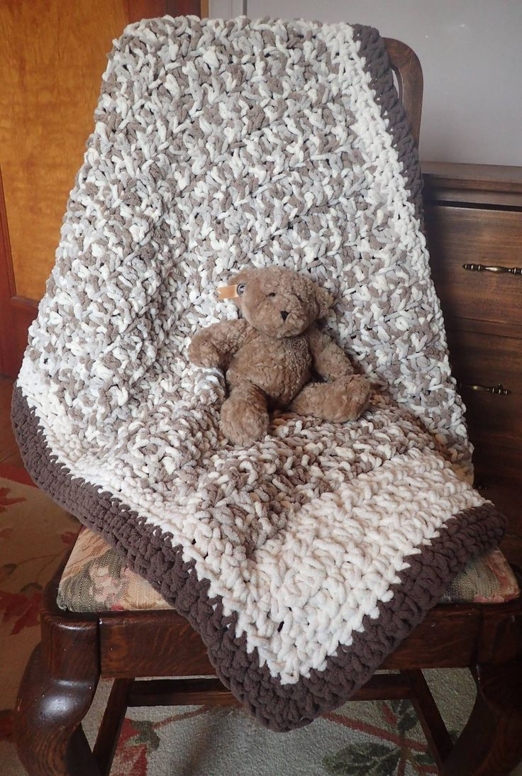 Super soft crocheted baby blanket
