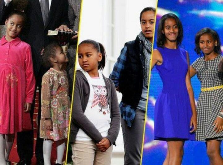 1st Daughters Malia Obama & Sasha Obama.... Thru The Years ...