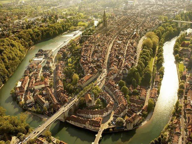 Fotografía aérea de Berna