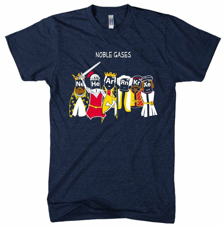 Black Friday Noble Gases T Shirt Funny Science Shirt Chemistry T Noble Gas L  from Crazy Dog Tshirts