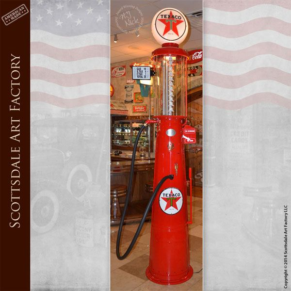 texico visable gas pump fully restored antique texaco