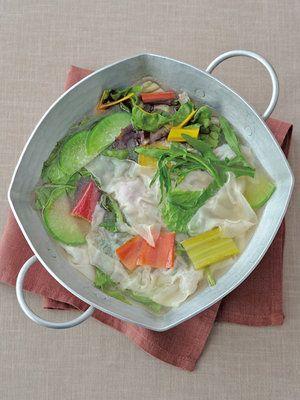 【ELLE a table】ワンタンとサラダ野菜のさっぱり鍋レシピ エル・オンライン
