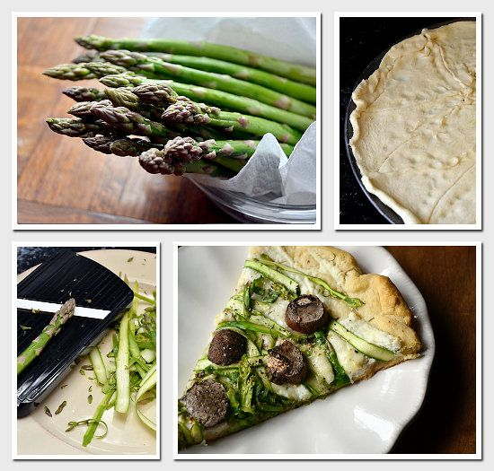 Shaved Asparagus and Portobello Three Cheese Pizza - this would be ...